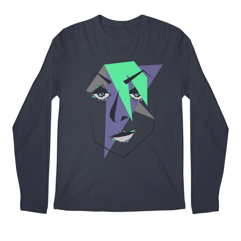 Face me Men's Regular Longsleeve T-Shirt by DERG's Artist Shop