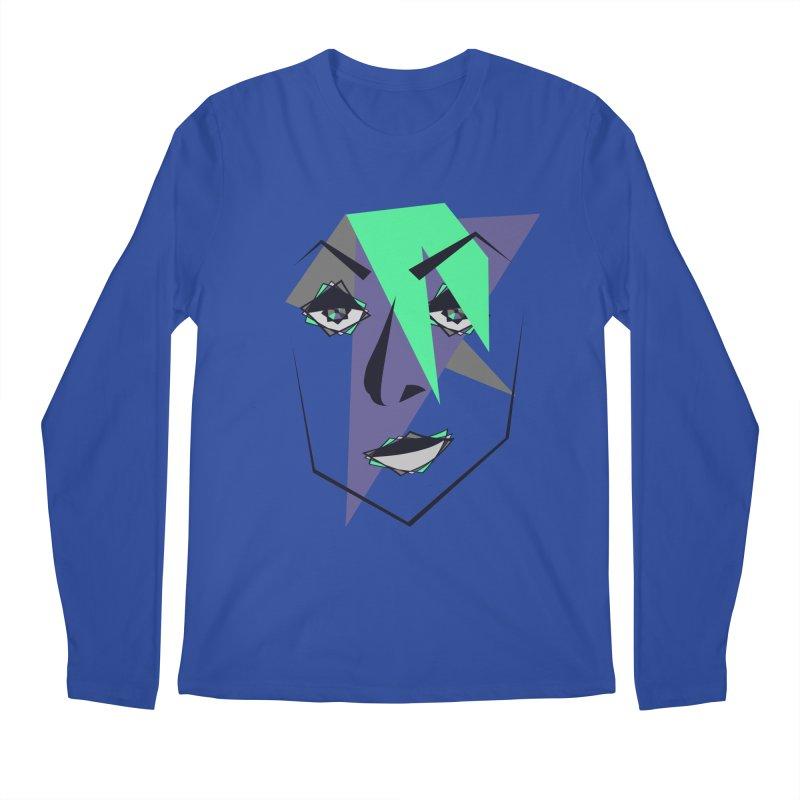 Face me Men's Regular Longsleeve T-Shirt by DERG's Artist Shop