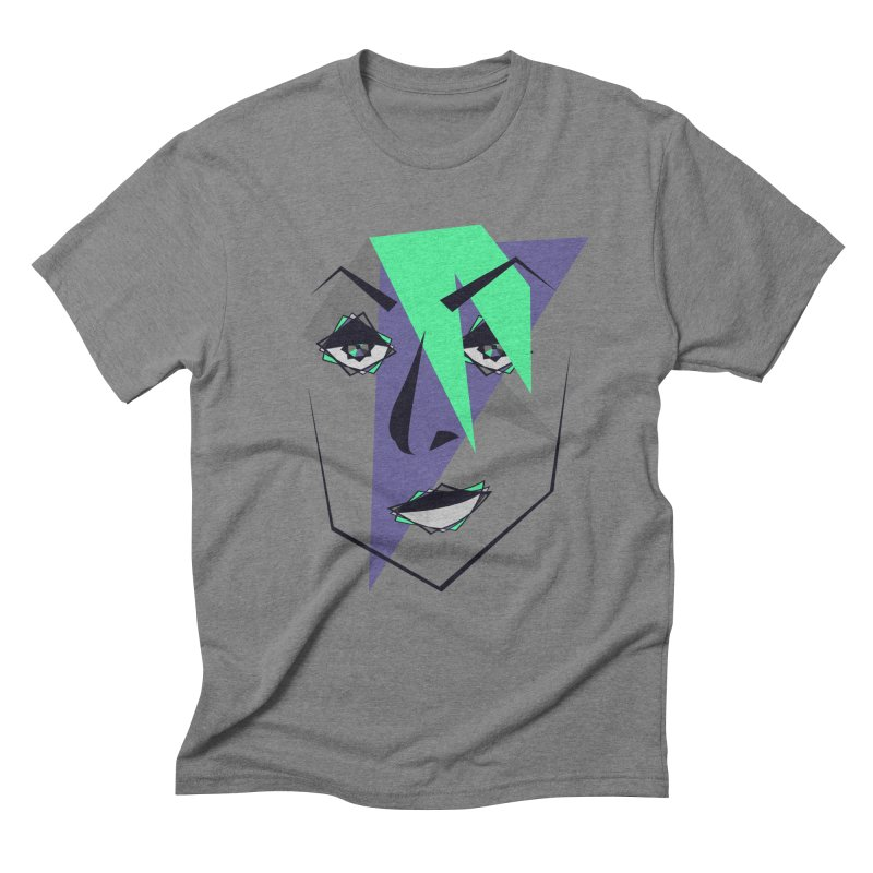 Face me Men's Triblend T-shirt by DERG's Artist Shop