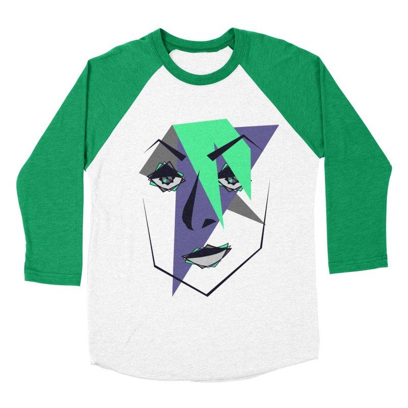 Face me Women's Baseball Triblend Longsleeve T-Shirt by DERG's Artist Shop