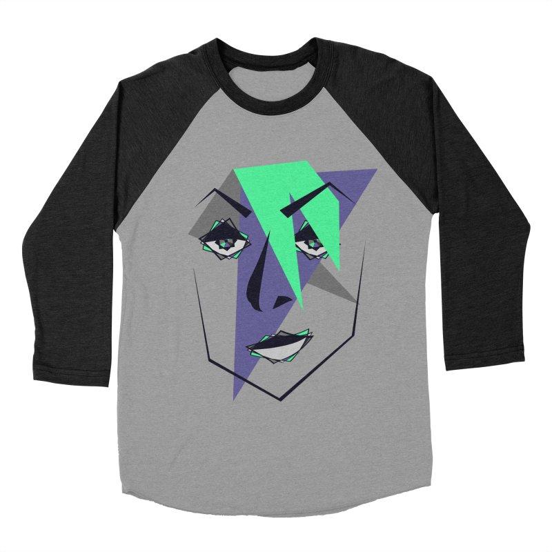 Face me Women's Baseball Triblend T-Shirt by DERG's Artist Shop