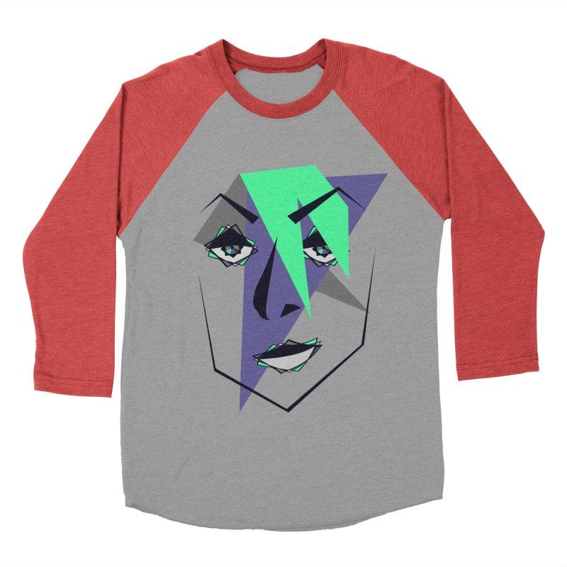 Face me Men's Baseball Triblend T-Shirt by DERG's Artist Shop