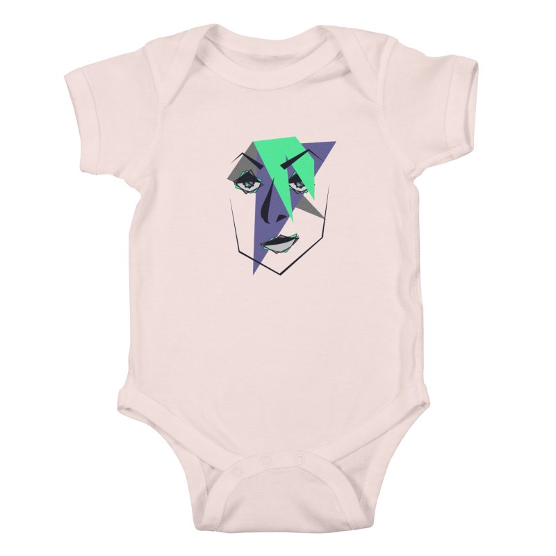 Face me Kids Baby Bodysuit by DERG's Artist Shop
