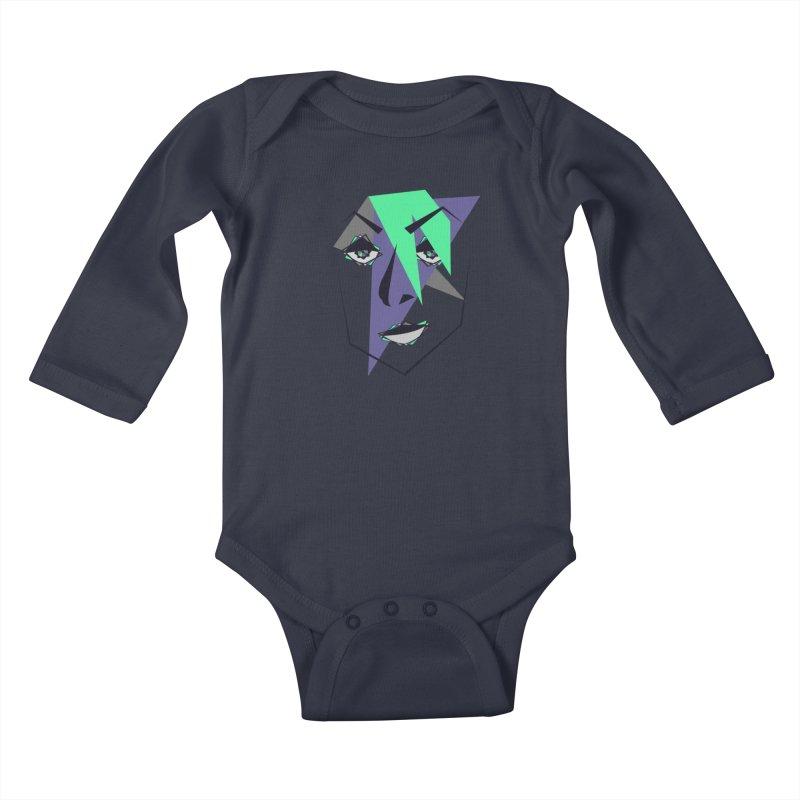 Face me Kids Baby Longsleeve Bodysuit by DERG's Artist Shop