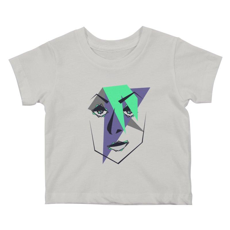 Face me Kids Baby T-Shirt by DERG's Artist Shop