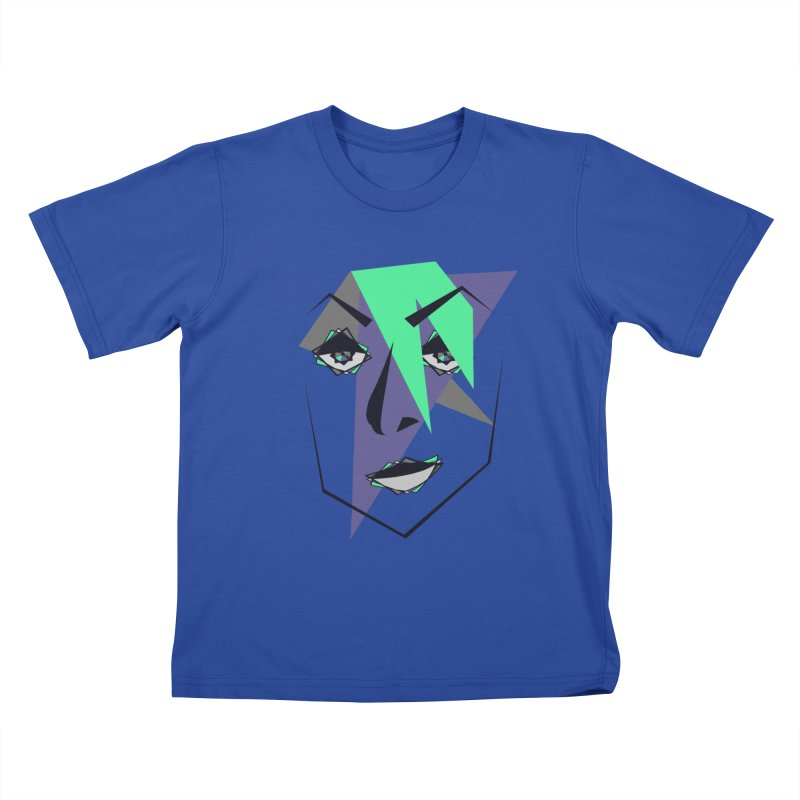 Face me Kids T-Shirt by DERG's Artist Shop