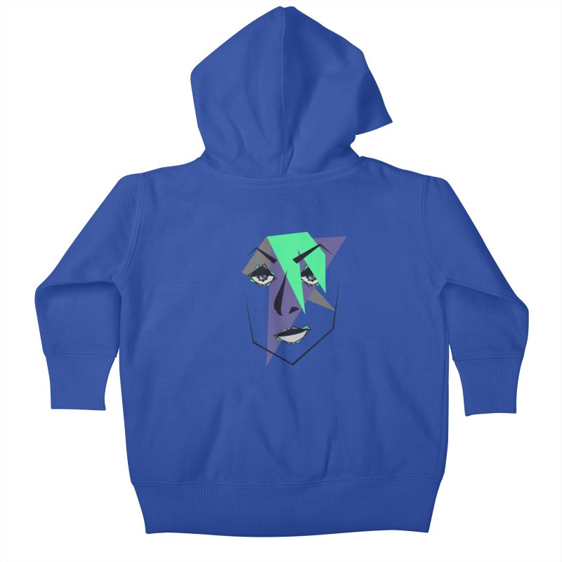 Face me Kids Baby Zip-Up Hoody by DERG's Artist Shop