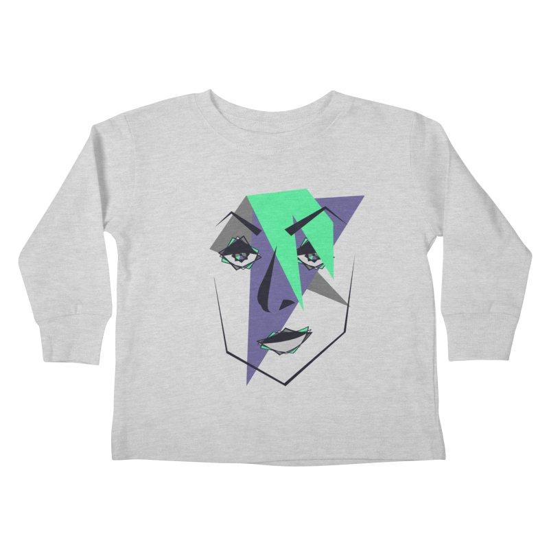 Face me Kids Toddler Longsleeve T-Shirt by DERG's Artist Shop