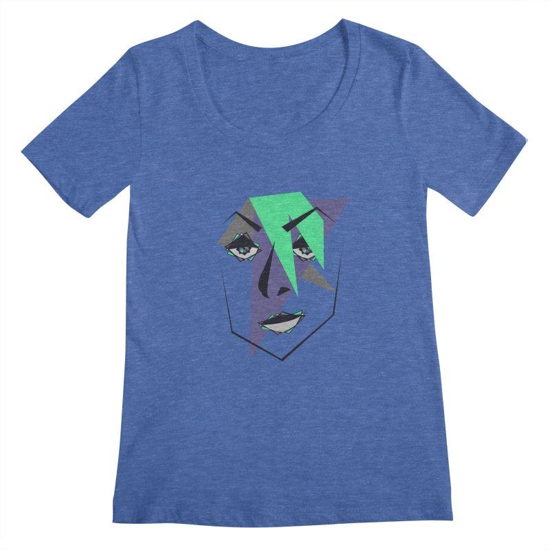 Face me Women's Scoopneck by DERG's Artist Shop