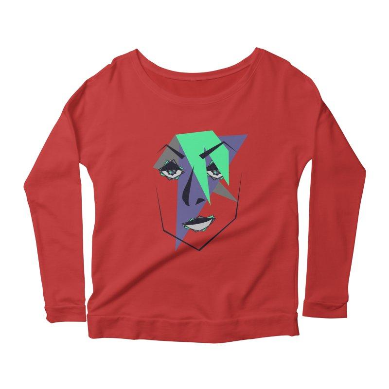 Face me Women's Longsleeve Scoopneck  by DERG's Artist Shop