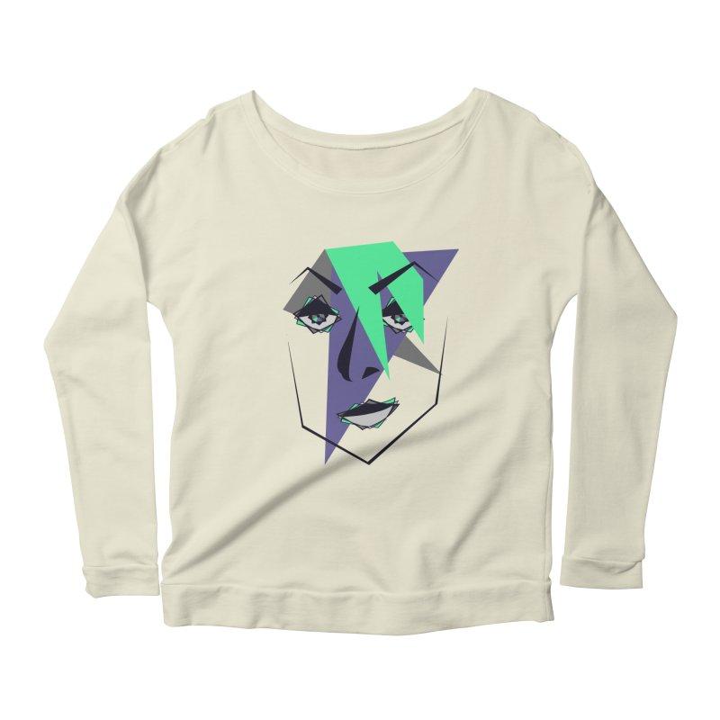 Face me Women's Scoop Neck Longsleeve T-Shirt by DERG's Artist Shop