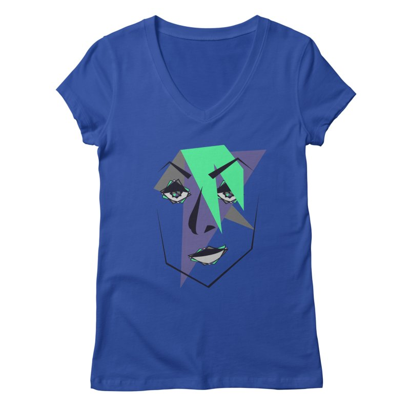 Face me Women's V-Neck by DERG's Artist Shop