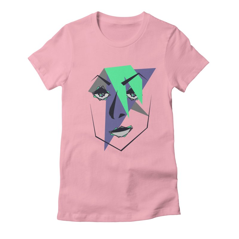 Face me Women's Fitted T-Shirt by DERG's Artist Shop