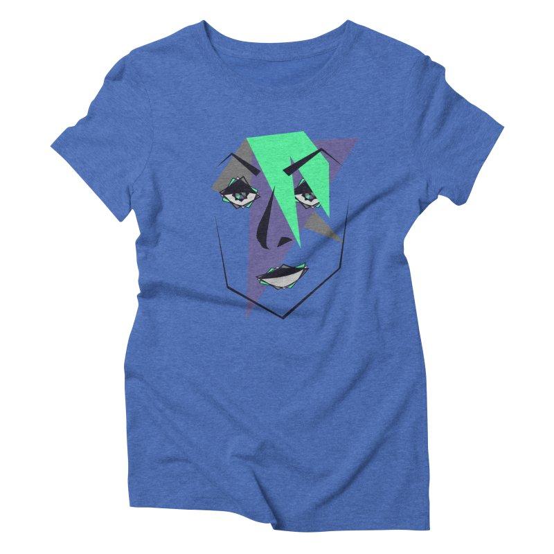 Face me Women's Triblend T-Shirt by DERG's Artist Shop