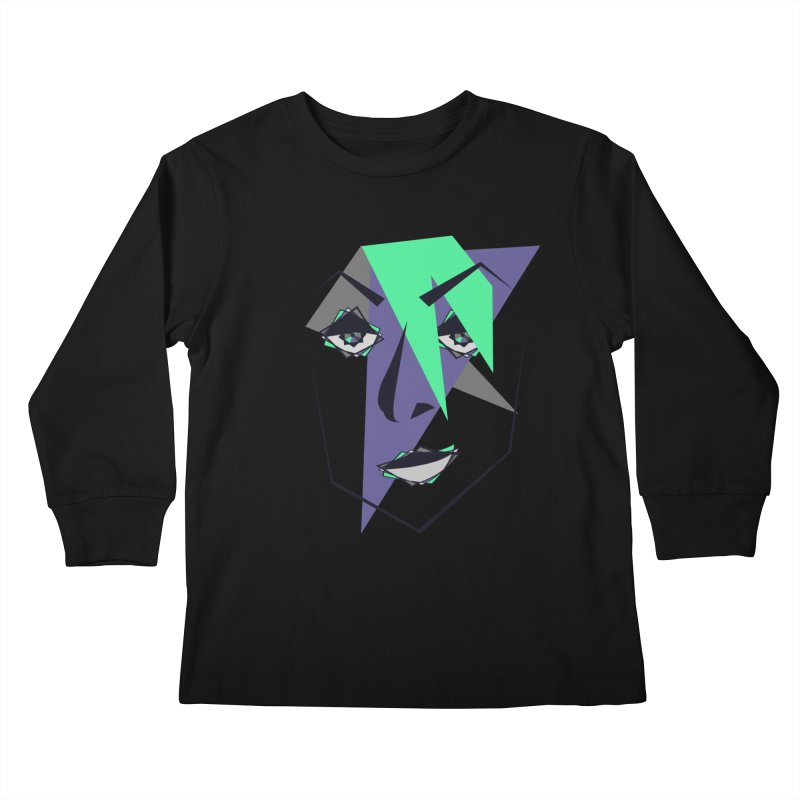 Face me Kids Longsleeve T-Shirt by DERG's Artist Shop
