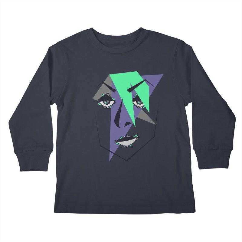 Face me Kids Longsleeve T-Shirt by DERG's Artist Shop