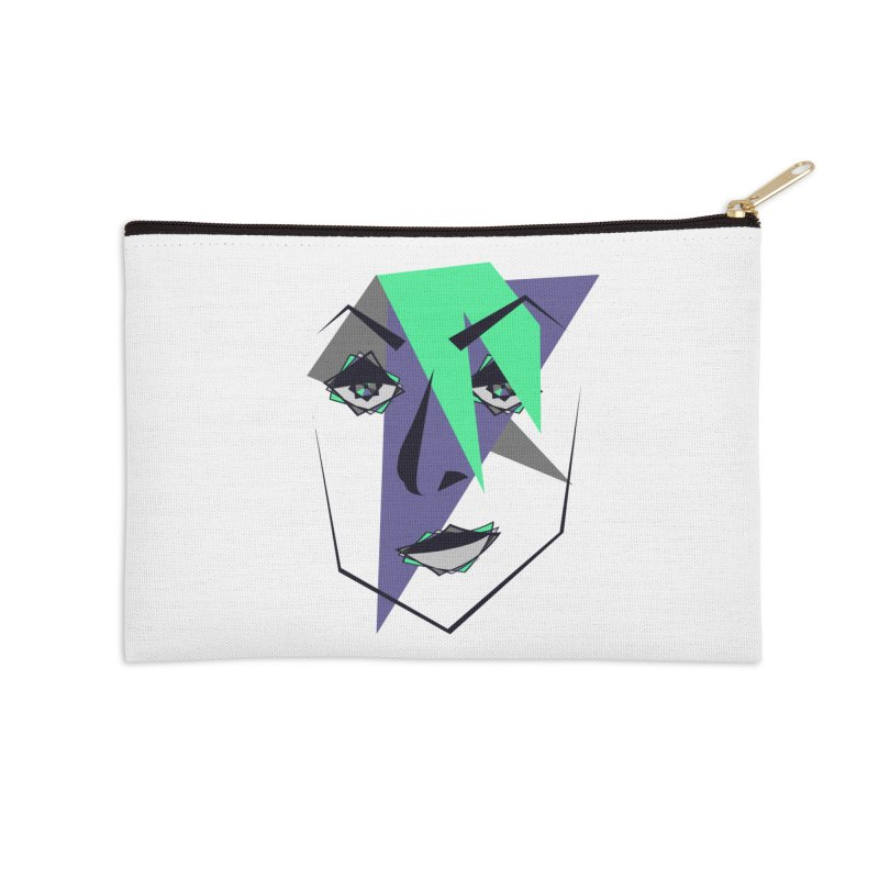 Face me Accessories Zip Pouch by DERG's Artist Shop