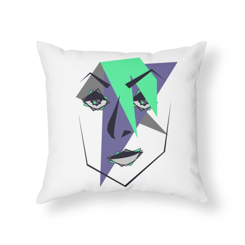 Face me Home Throw Pillow by DERG's Artist Shop