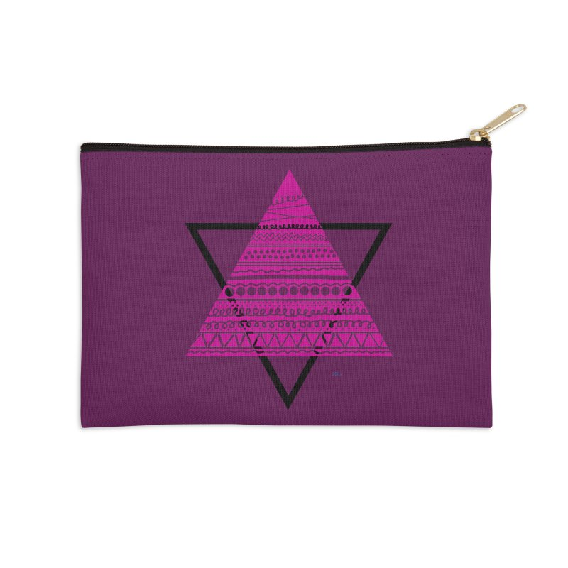 Triangle purple Accessories Zip Pouch by DERG's Artist Shop