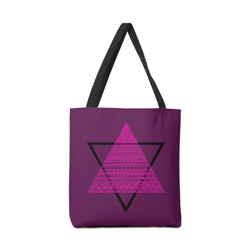 Triangle purple Accessories Bag by DERG's Artist Shop