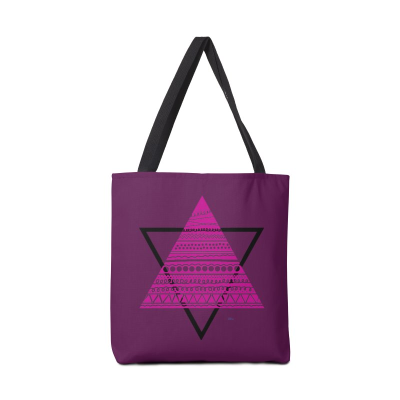Triangle purple Accessories Bag by DERG's Artist Shop