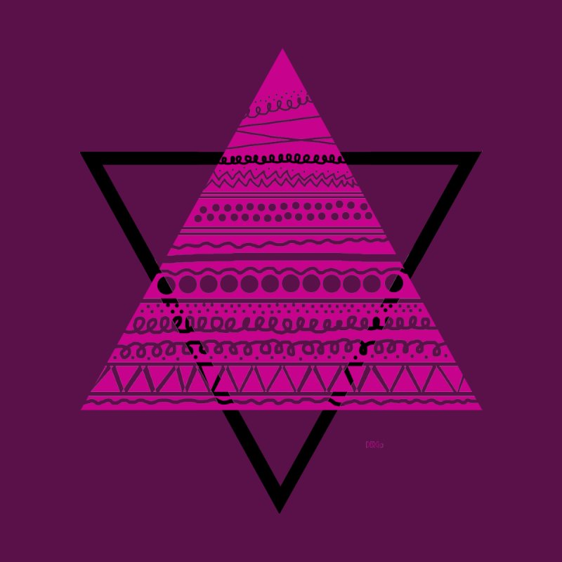 Triangle purple Men's Tank by DERG's Artist Shop