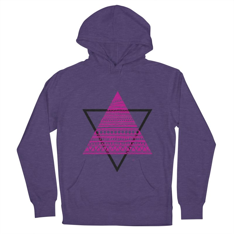 Triangle purple Women's French Terry Pullover Hoody by DERG's Artist Shop