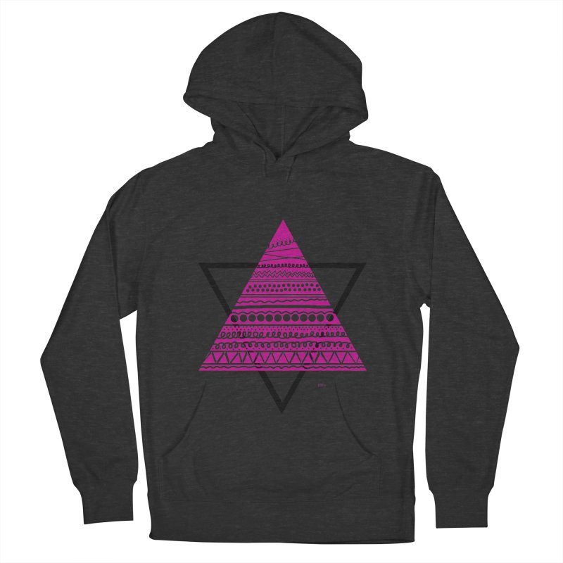 Triangle purple Men's Pullover Hoody by DERG's Artist Shop