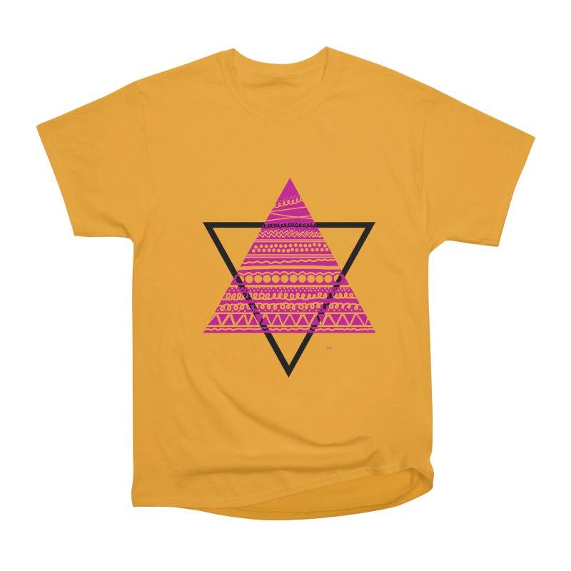 Triangle purple Men's Heavyweight T-Shirt by DERG's Artist Shop