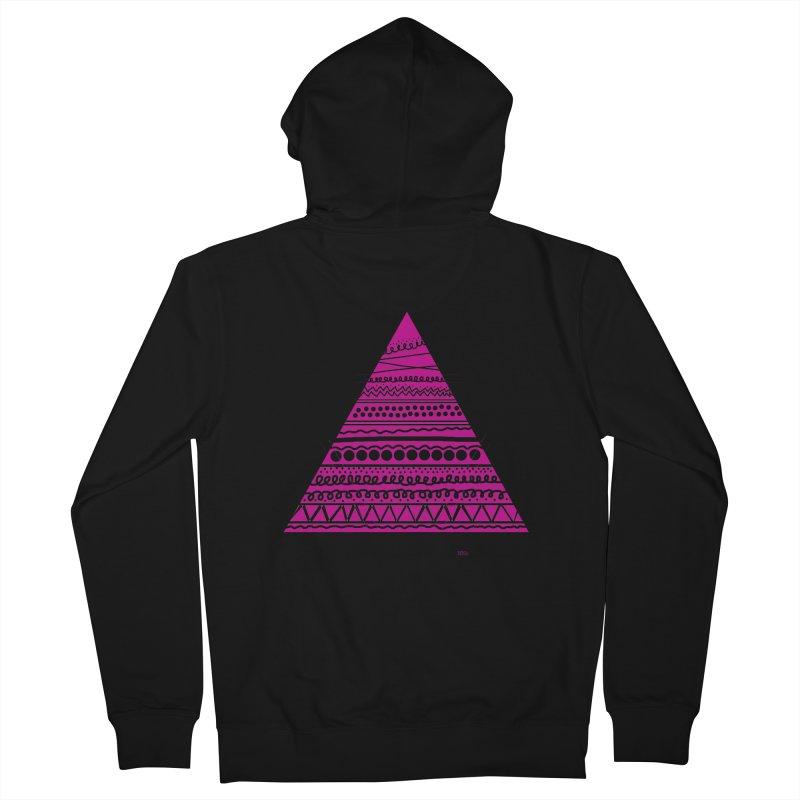 Triangle purple Women's Zip-Up Hoody by DERG's Artist Shop