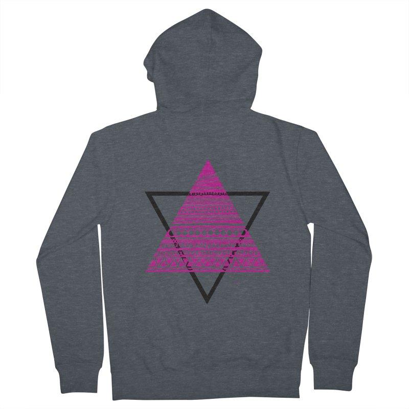 Triangle purple Men's Zip-Up Hoody by DERG's Artist Shop