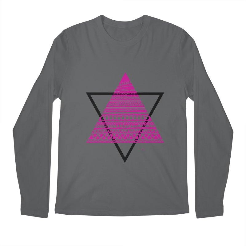 Triangle purple Men's Longsleeve T-Shirt by DERG's Artist Shop