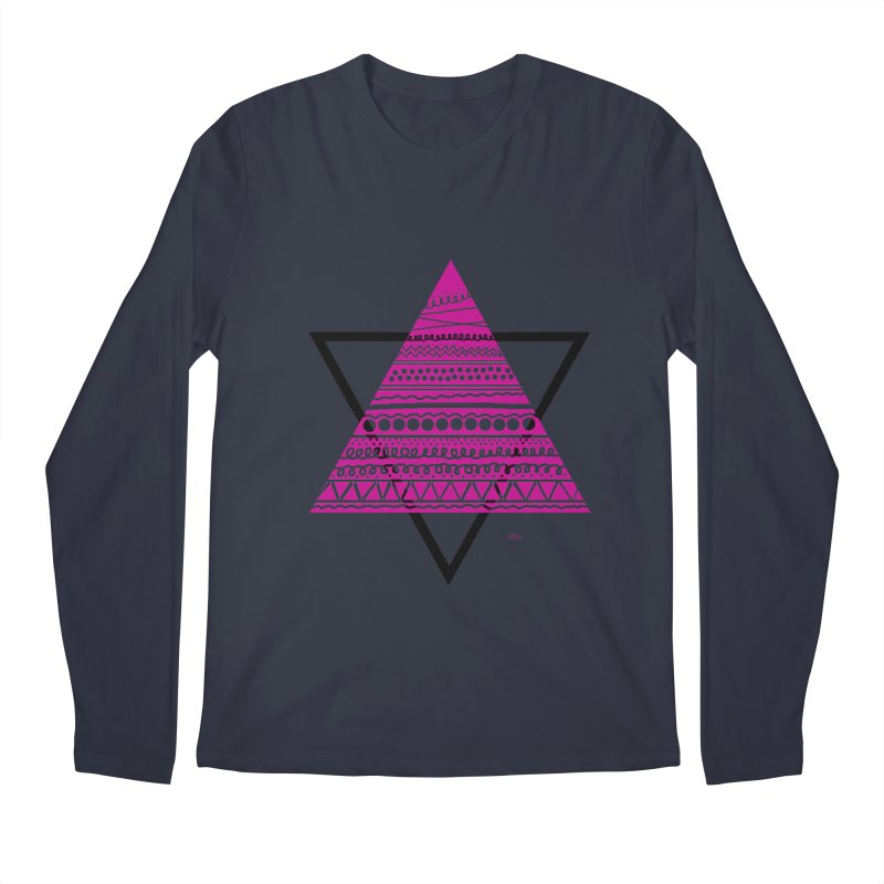 Triangle purple Men's Regular Longsleeve T-Shirt by DERG's Artist Shop