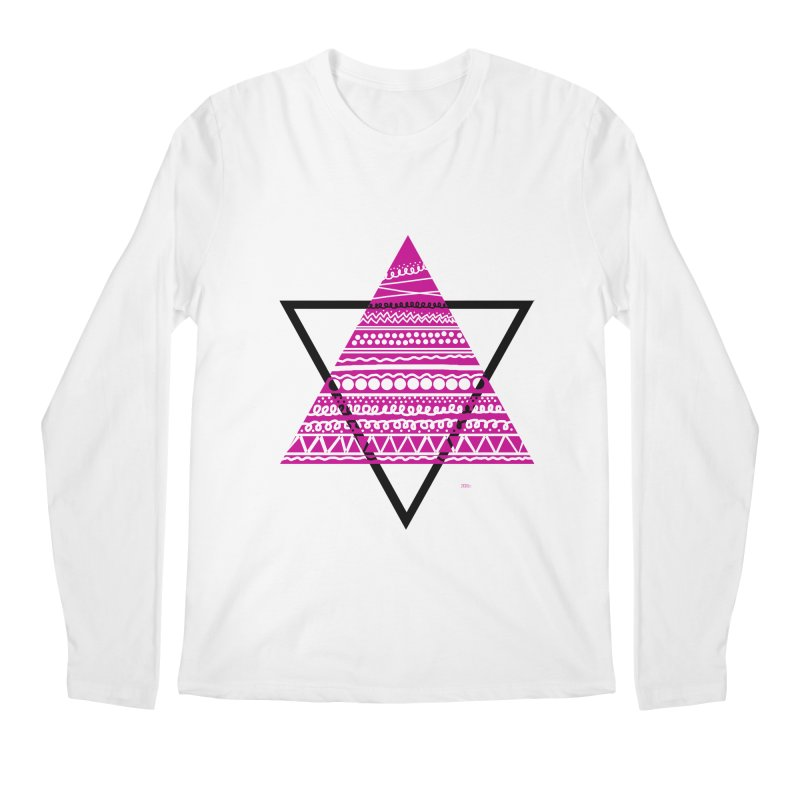 Triangle purple Men's Regular Longsleeve T-Shirt by DERG's Artist Shop