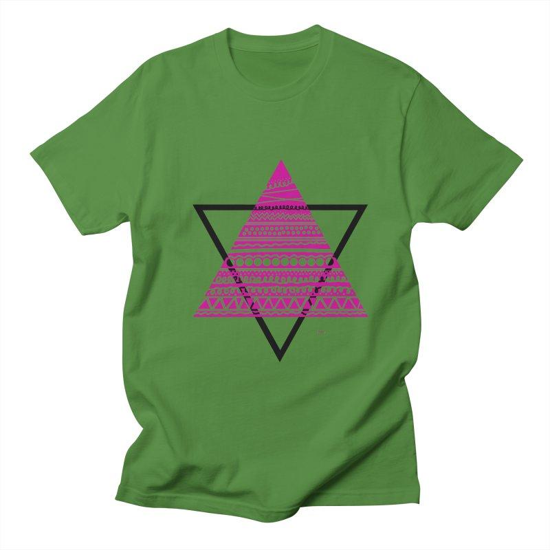 Triangle purple Women's Unisex T-Shirt by DERG's Artist Shop
