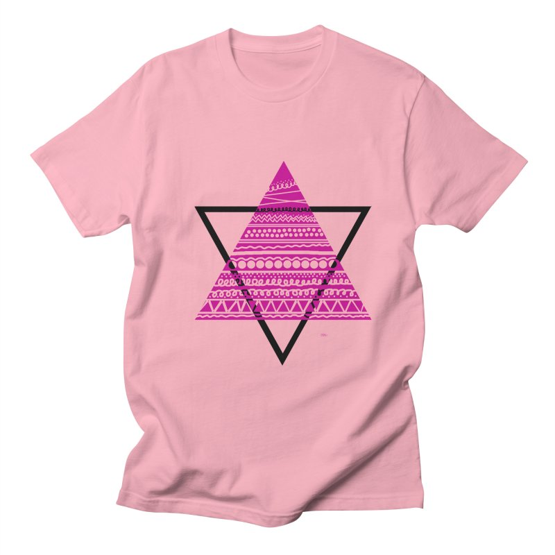 Triangle purple Men's T-Shirt by DERG's Artist Shop