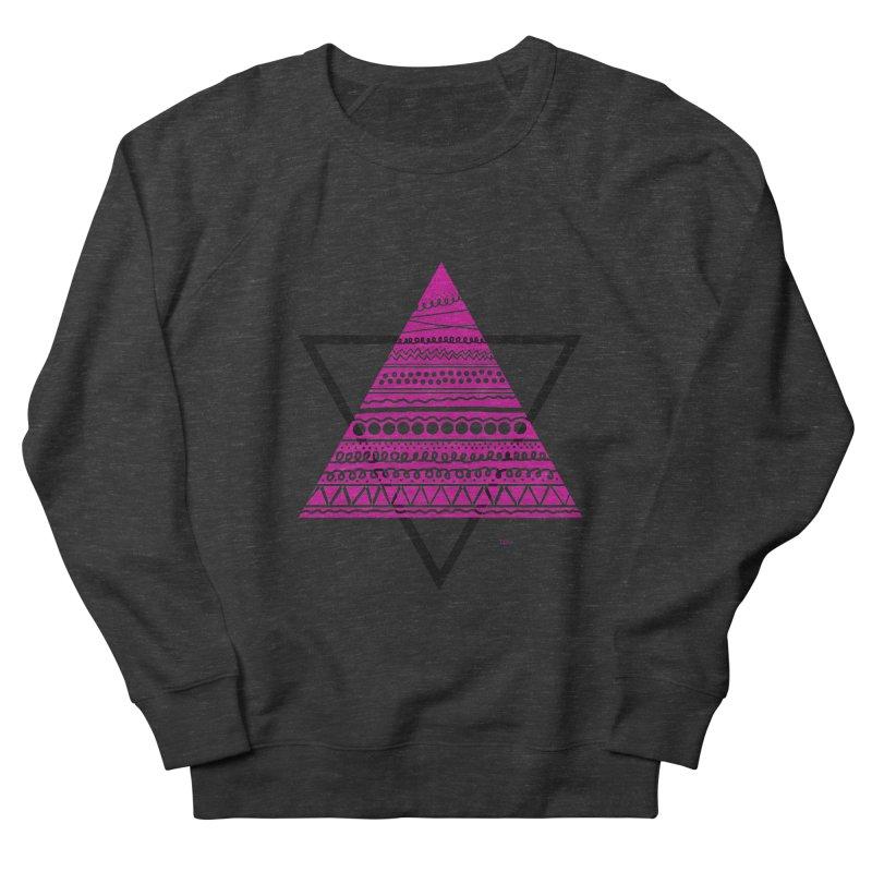 Triangle purple Women's Sweatshirt by DERG's Artist Shop