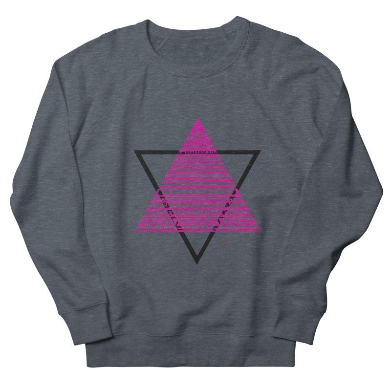 Triangle purple Men's French Terry Sweatshirt by DERG's Artist Shop