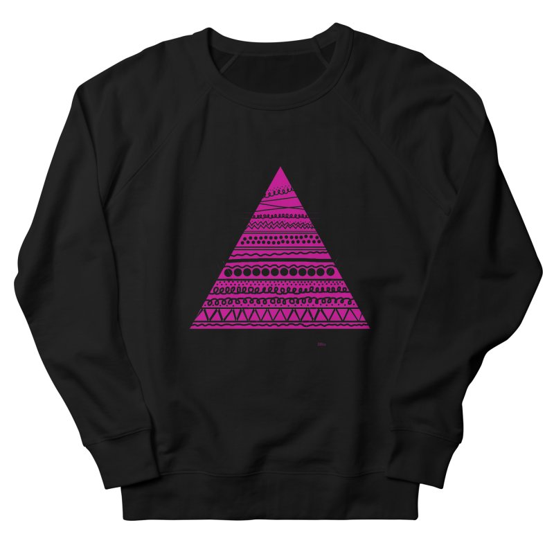Triangle purple Men's Sweatshirt by DERG's Artist Shop