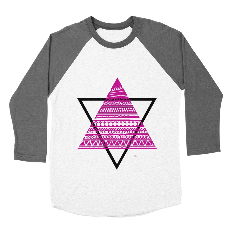 Triangle purple Women's Baseball Triblend Longsleeve T-Shirt by DERG's Artist Shop