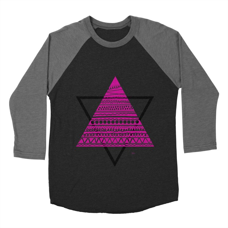 Triangle purple Women's Baseball Triblend T-Shirt by DERG's Artist Shop