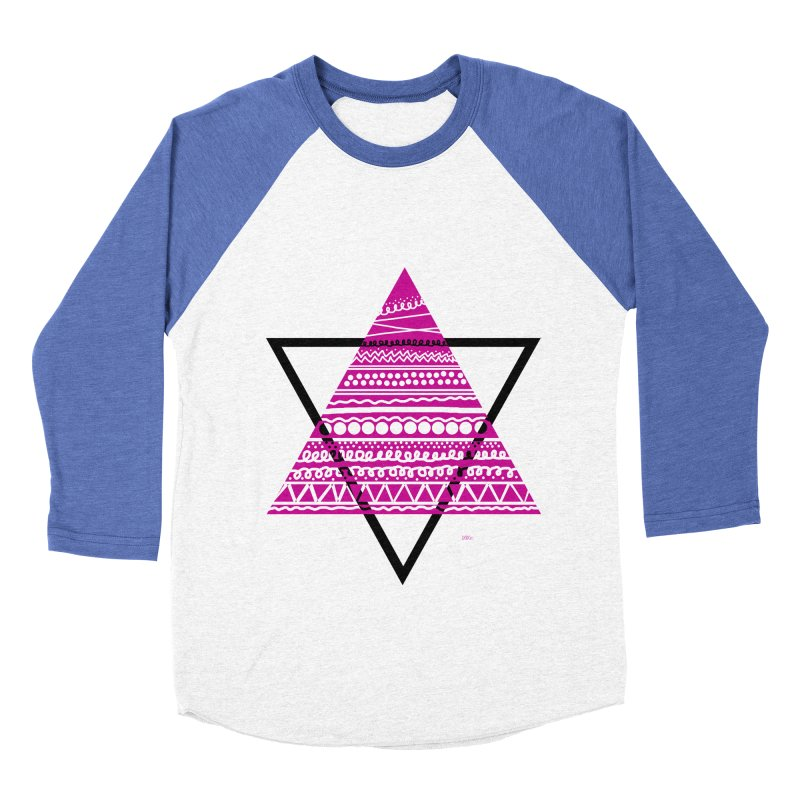 Triangle purple Men's Baseball Triblend T-Shirt by DERG's Artist Shop
