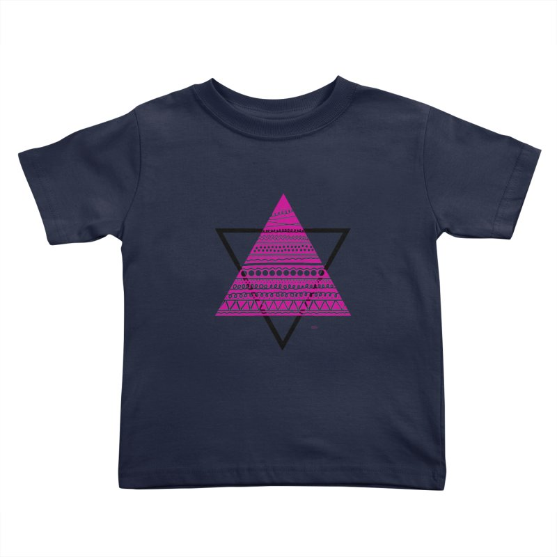 Triangle purple Kids Toddler T-Shirt by DERG's Artist Shop