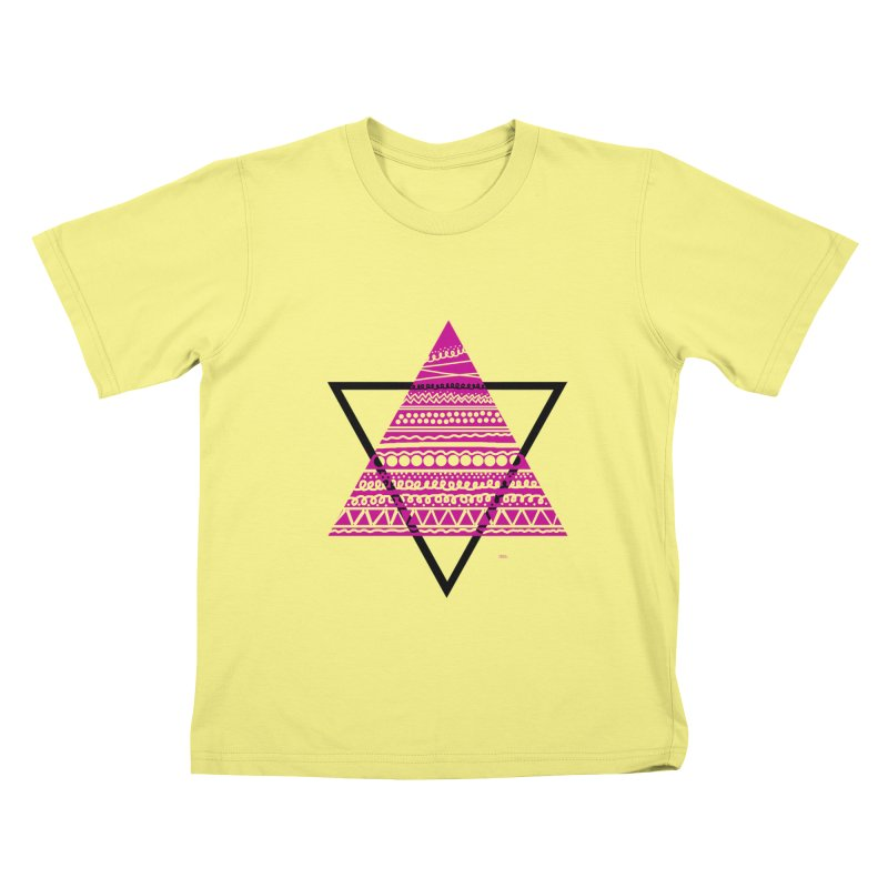 Triangle purple Kids T-shirt by DERG's Artist Shop