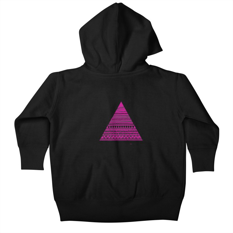 Triangle purple Kids Baby Zip-Up Hoody by DERG's Artist Shop