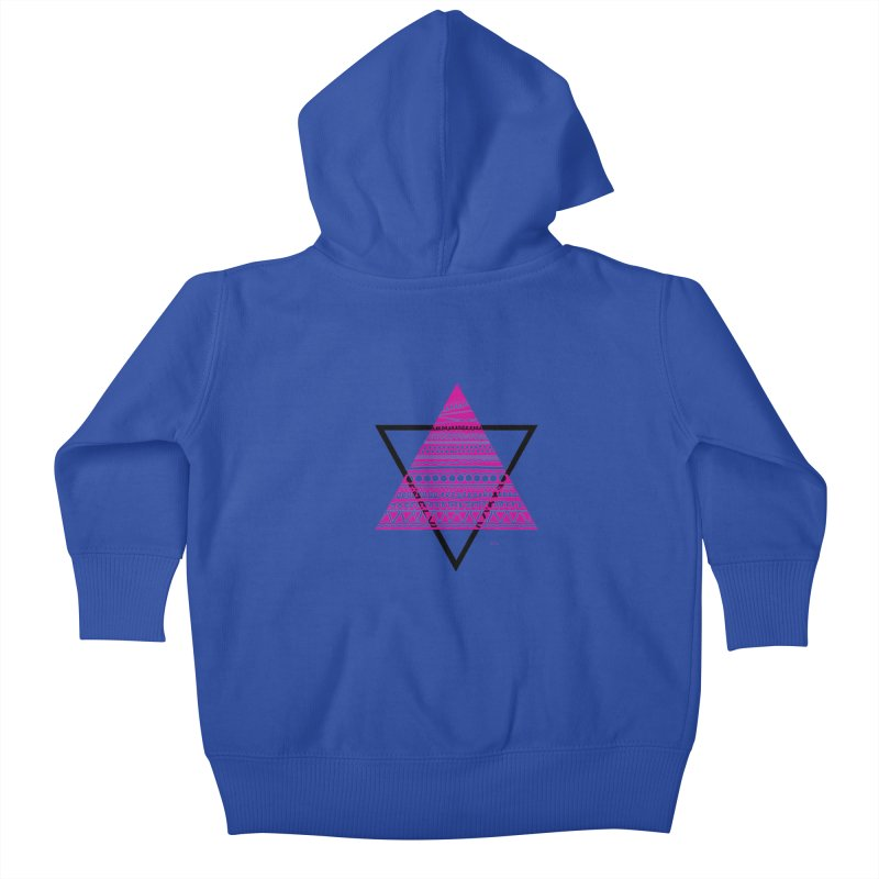 Triangle purple Kids Baby Zip-Up Hoody by DERG's Artist Shop