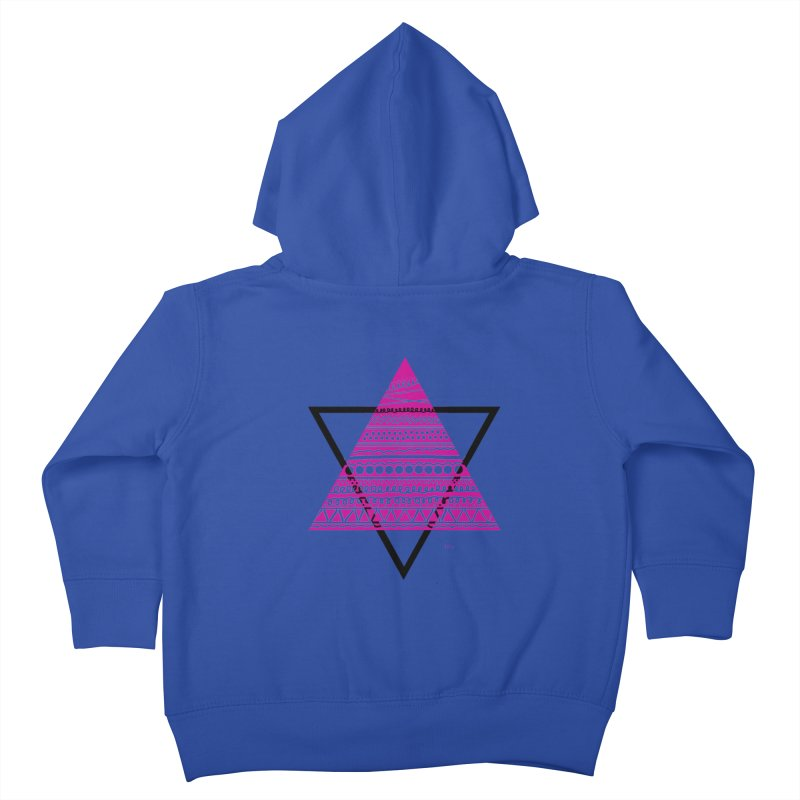 Triangle purple Kids Toddler Zip-Up Hoody by DERG's Artist Shop