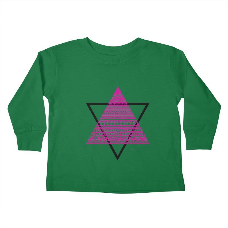 Triangle purple Kids Toddler Longsleeve T-Shirt by DERG's Artist Shop