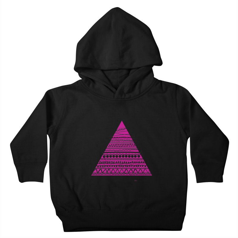 Triangle purple Kids Toddler Pullover Hoody by DERG's Artist Shop