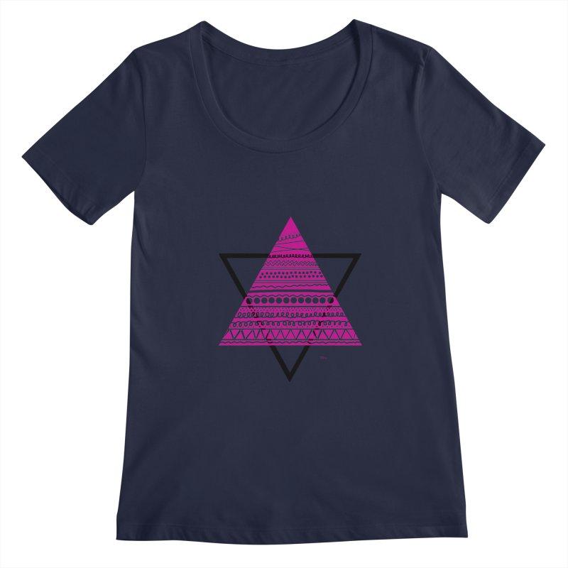 Triangle purple Women's Scoopneck by DERG's Artist Shop
